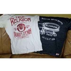 True Religion Men's Graphic Shirt Bundle Fresh